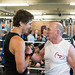 Justin spars with Mickey MacDonald at Palooka's in Halifax. August 25, 2014.