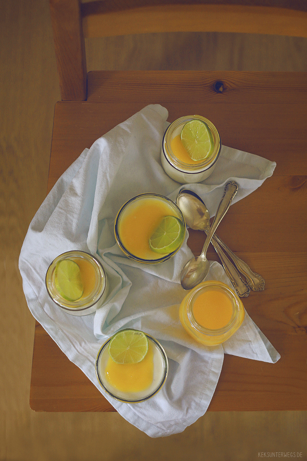 Buttermilk & Honey Panna Cotta With Lime Curd   +++keksunterwegs.de+++