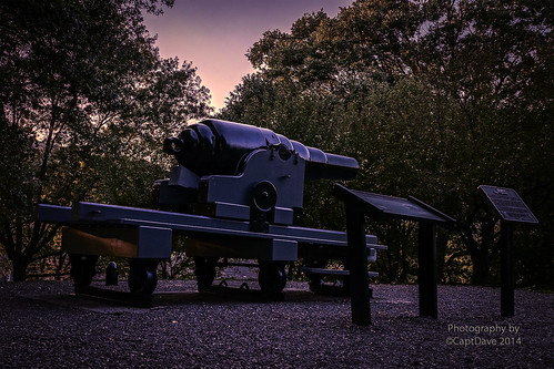 United States Military Academy West Point (Fort Fisher, NC) Armstrong Gun Sunset HDR 6X4