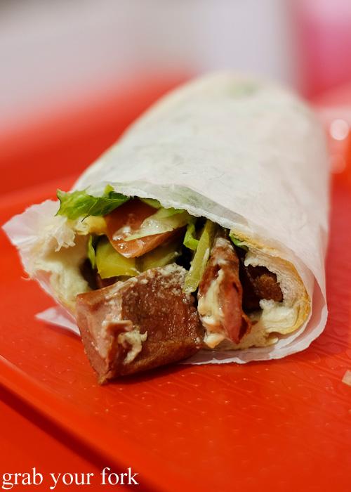 Baked hot dog at Aria Persian Fast Food, Merrylands