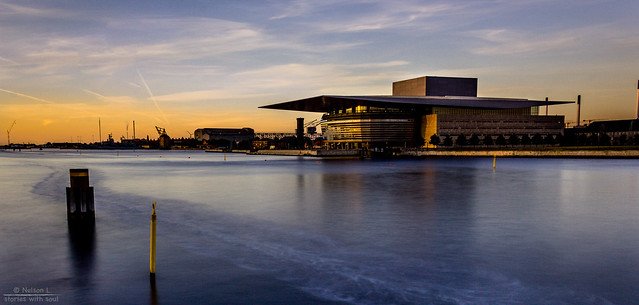 Almost sunset at the Opera (Denmark #34 Copenhagen Opera)