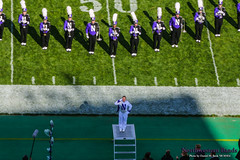 Drum Major Emily Liquin '16 ::     The Northwestern University 'Wildcat' Marching Band performs at  Ryan Field as Wildcat Football hosts California on August 30, 2014.  Photo by Daniel M. Reck '08 MSEd.