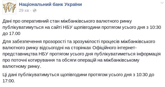 Дані про оперативний стан міжбанківського...   Національний банк України