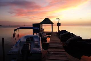 Pôr do Sol em Caye Caulker no Belize