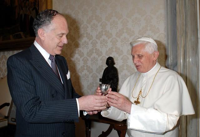 Ronald Lauder con Benedicto XVI