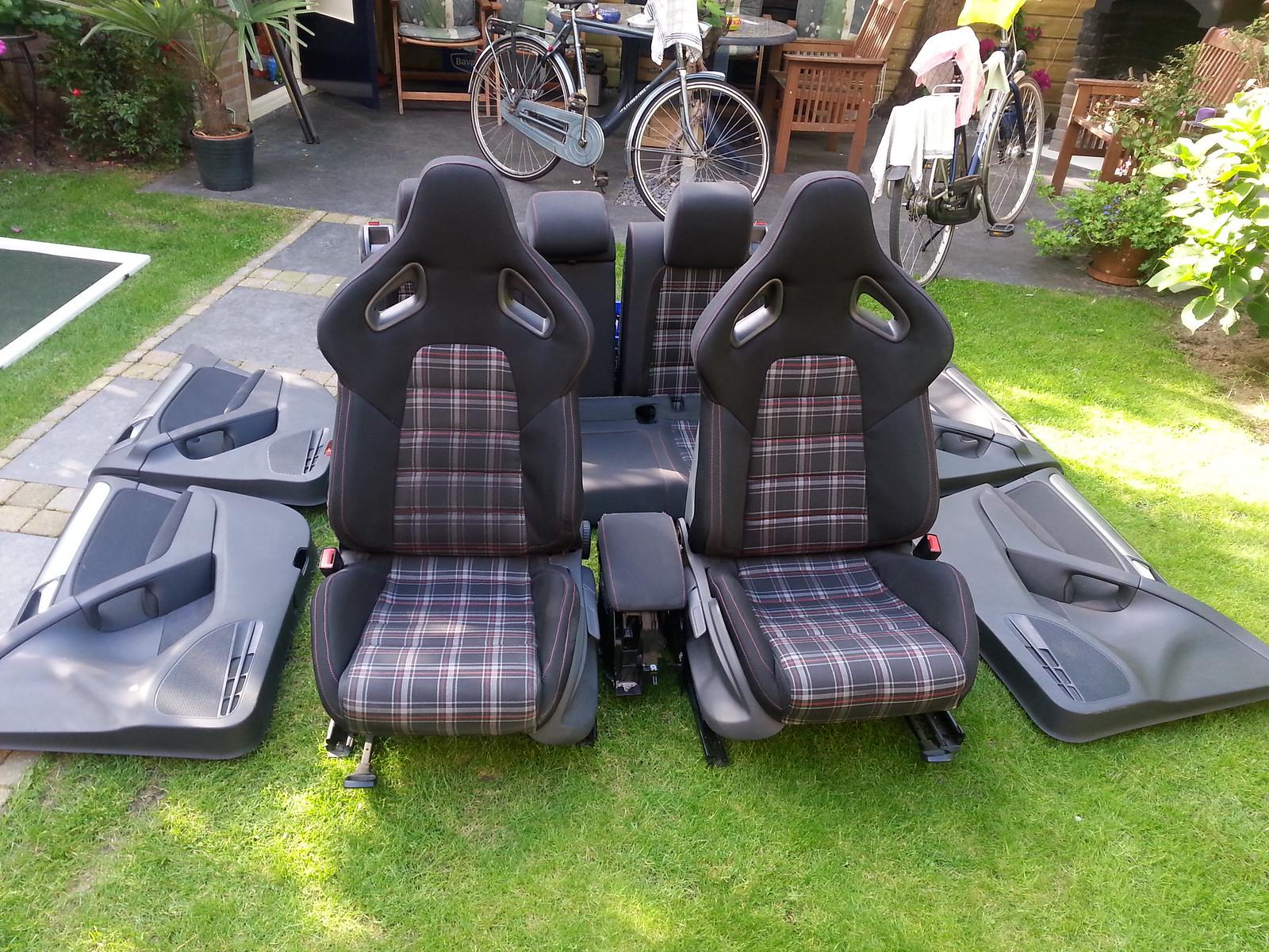 golf 6 gti schalensitze te koop auto onderdelen. Black Bedroom Furniture Sets. Home Design Ideas