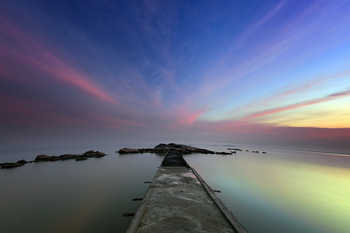 sunset sea sky cloud seascape beach sunrise indonesia landscape kalimantan singkawang