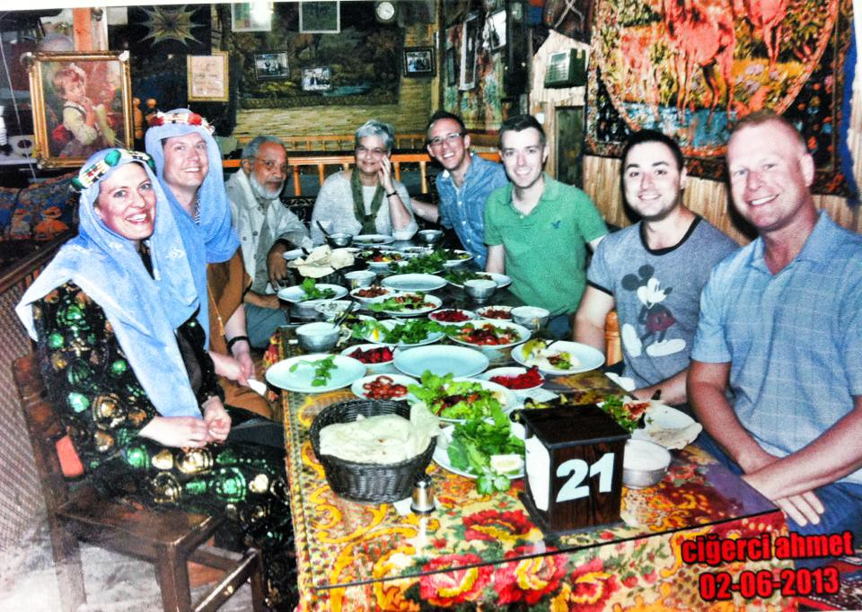 Traditional meal (and some costumes) in Eskisehir, Turkey