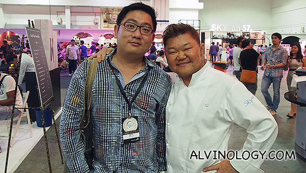 Me with chef Justin Quek