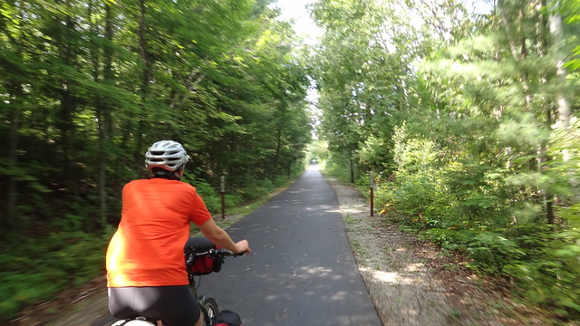 Zooming along rail trail