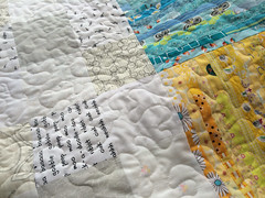 Quilting coming along nicely but slowly...