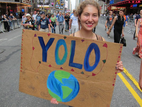 People's Climate March NYC 2014: YOLO