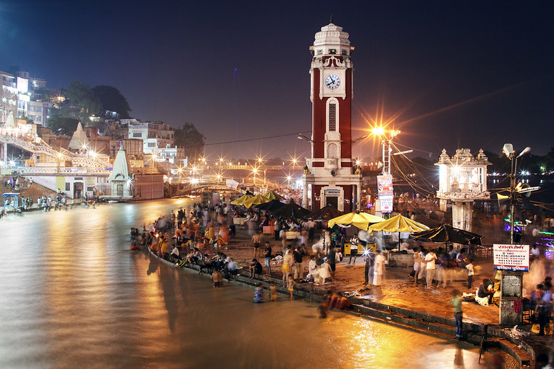 Haridwar at night