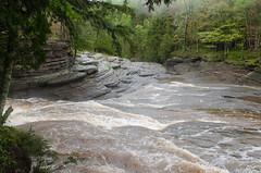 Layered Bedrock in Presque Isle River
