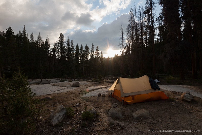 Camping along Bear Creek