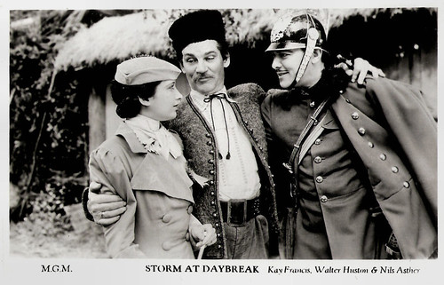 Kay Francis, Walter Huston and Nils Asther in Storm at Daybreak
