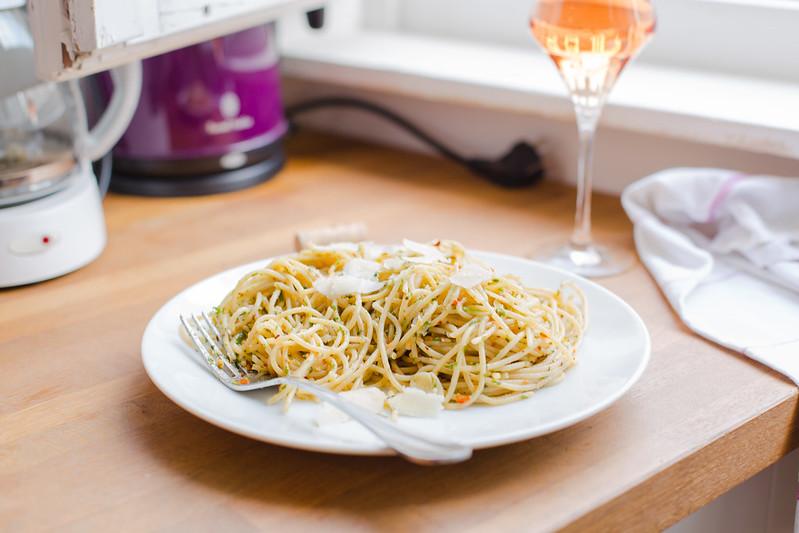 Herbed Garlic Butter Pasta