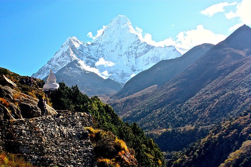 Mt. Amadablam and its famous Gompa