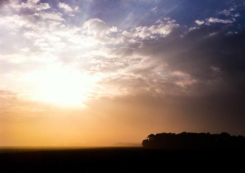 sun mist silhouette fog sunrise 365 217 iphone colorfulsky iphone4