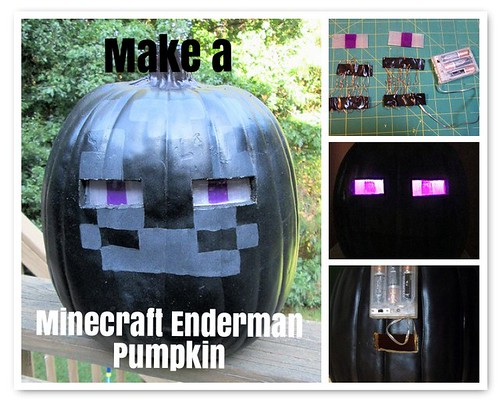 Making a MInecraft Endermen Pumpkin