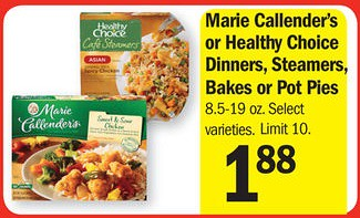 graphic relating to Marie Callender Coupons Printable known as Marie Callenders Frozen Food items 0.88 - $1.00 at Meijer with