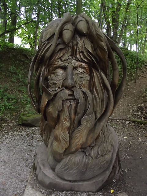 Woodland Walk & Sculpture Trail - National Tramway Museum - Crich - The Green Man