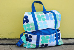 geo pop canvas cooper bag