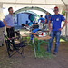 F5B Tent from AUSTRIA, Karl Waser left, visitor, Hannes Starzinger (2nd)