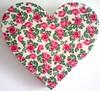 Coração Tecido Rosas