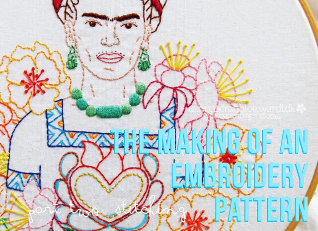 Frida Kahlo - the stitching of an embroidery pattern