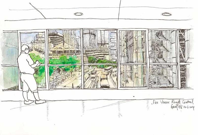 Sketching on a Footbridge