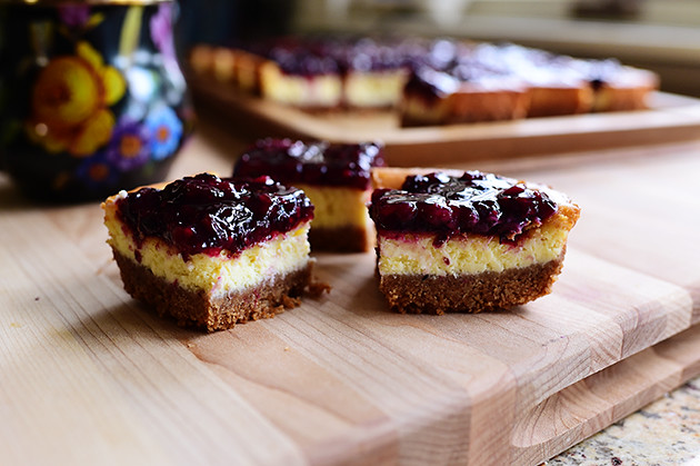 Blackberry Cheesecake Squares