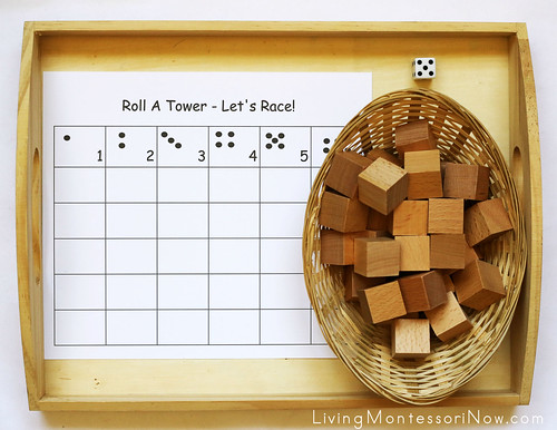 Roll-A-Tower Game Tray