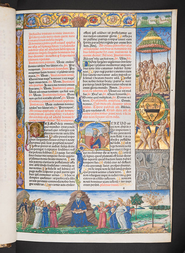 Decorated and illuminated page in Jenson's Breviary