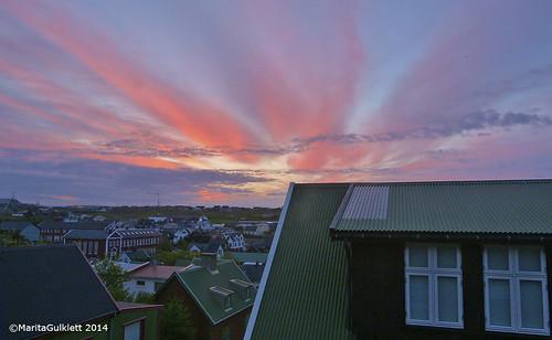 sunrise faroeislands faroes tórshavn føroyar maritagulklett sólarrís panasoniclumixfz150