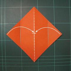 วิธีพับกระดาษเป็นที่คั่นหนังสือรูปหมาบูลด็อก (Origami Bulldog Bookmark) 001