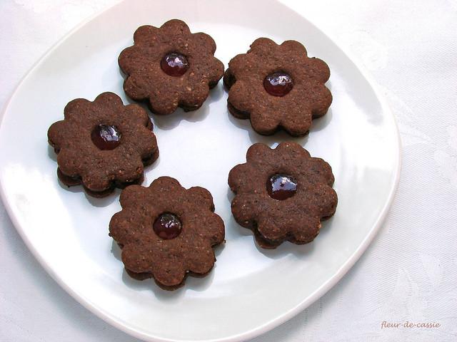шоколадное печенье с желе 1