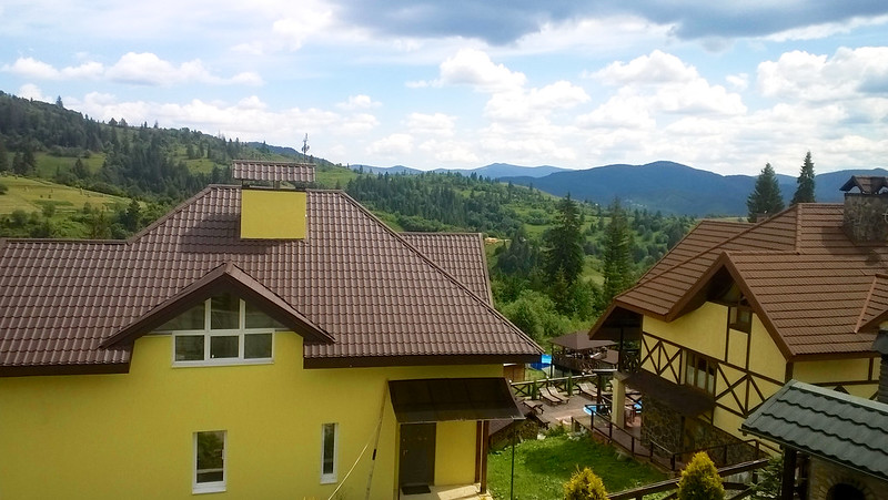 view from place where we lived. Trostyan, Carpathians, Ukraine