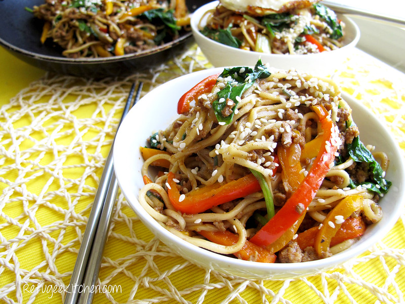 Mee Cha - Stir Fried Noodles w/ Turkey and Veggies