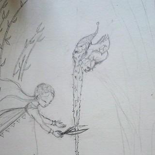 Les traits se précisent. #stepbystep #sketch #illustration #instantanébureau #dessin
