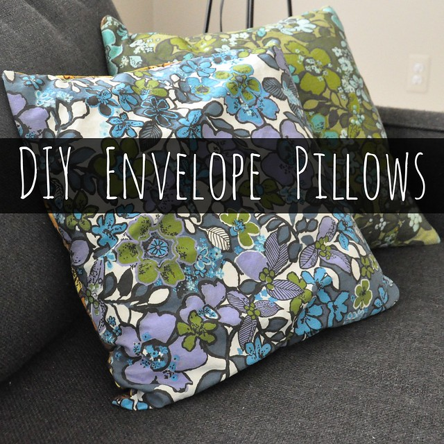 DIY Vintage Fabric Envelope Pillow Covers