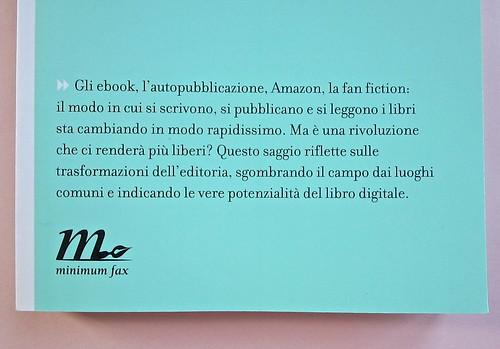 Come finisce il libro, di Alessandro Gazoia (Jumpinschark). minimum fax 2014. Progetto grafico di Riccardo Falcinelli. Copertina (part.), 3