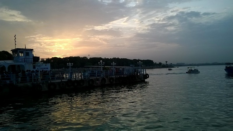 Sunset at Hussain Sagar Lake