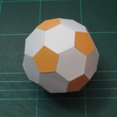 วิธีทำโมเดลกระดาษหมีบราวน์ชุดบอลโลก 2014 ทีมบราซิล (LINE Brown Bear in FIFA World Cup 2014 Brazil Jerseys Papercraft Model) 008