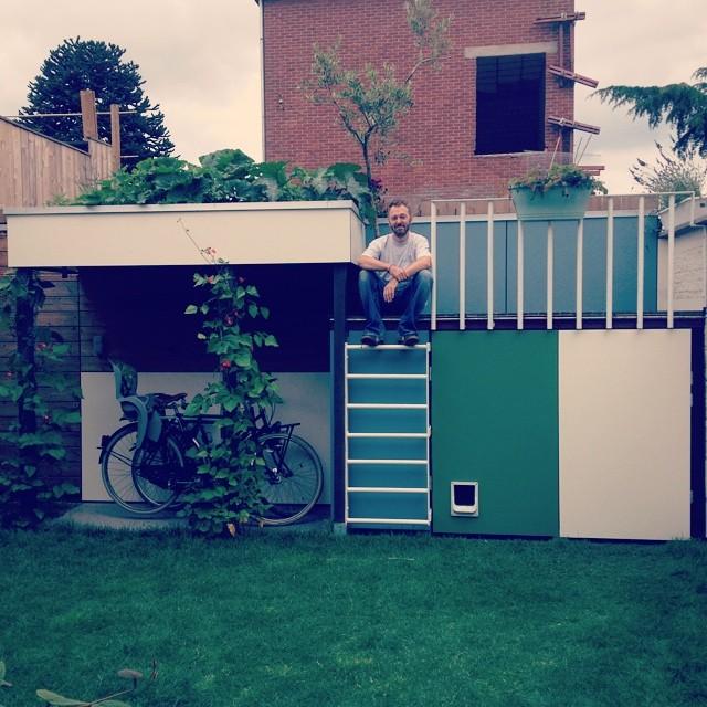 Mijn man is een held! Beste tuinhok ter wereld!