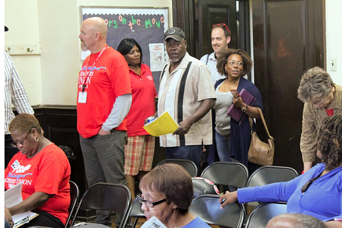 Community meeting in the Austin community of West Side Chicago