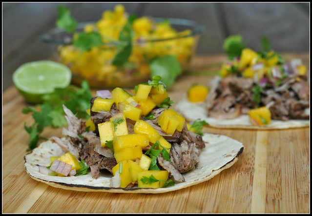 Caribbean Pork Tacos with Mango Salsa 4
