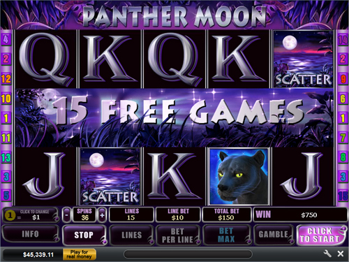 free Panther Moon free spins feature