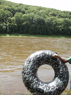 Ready to tube the Delaware, Upper Delaware River National Recreation Area, New York