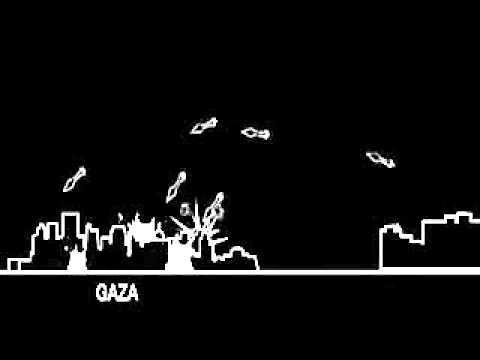 animacion que representa el conflicto palestina-Israel